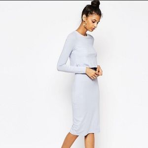 Bodycon dress with overlay